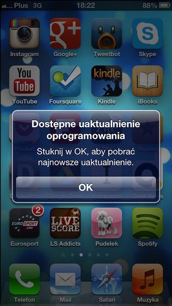 iPhone 5 iOS 6.01 alert