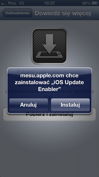 iPhone 5 over the air installer 1