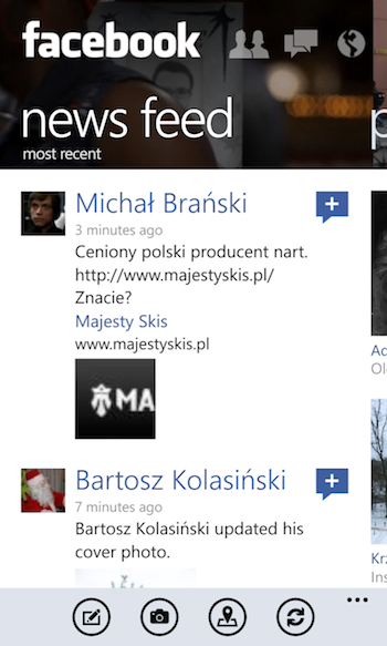 Facebok Windows Phone 1