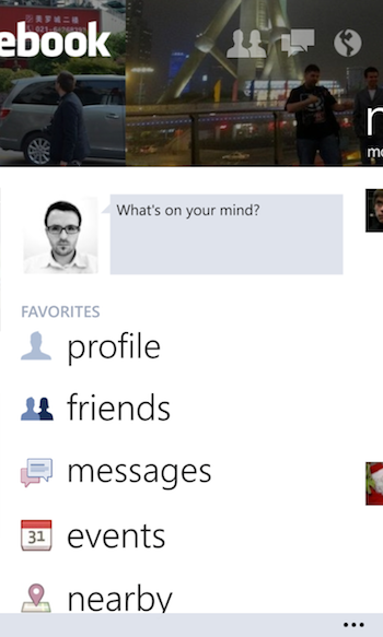 Facebook Windows Phone 2