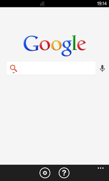 Google Search Windows Phone 1