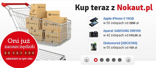 Porównywarka cen Nokaut.pl zmieniła się w ogromną platformę handlową