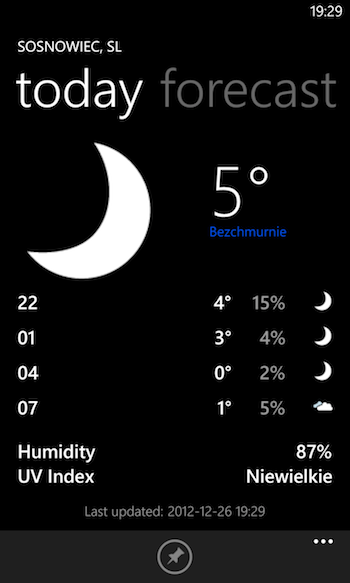 Weather Windows Phone 1