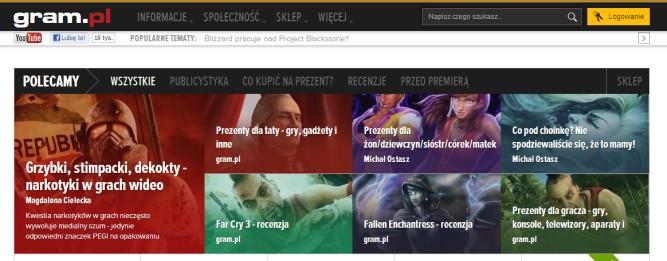 Nowy Gram.pl w stylu The Verge