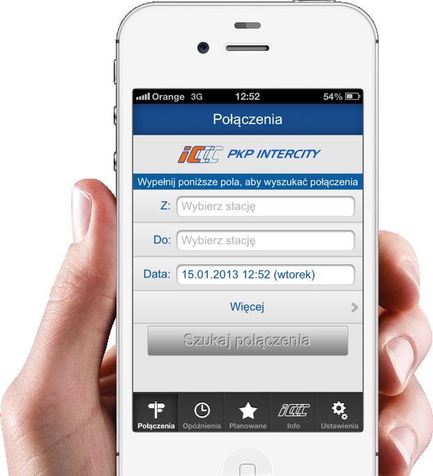 IC Mobile Navigator, czyli opóźnienia pociągów w smartfonie