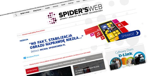 500 tys. unikalnych użytkowników na Spider's Web!