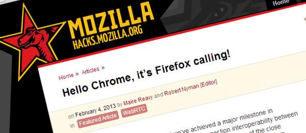 Cześć Chrome, to Firefox dzwoni!