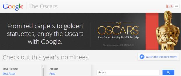 Google jest już gotowe na Oscary 2013