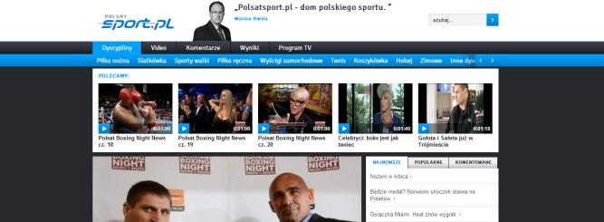 Polsat uruchomił nowy PolsatSPORT.pl, jest paskudny