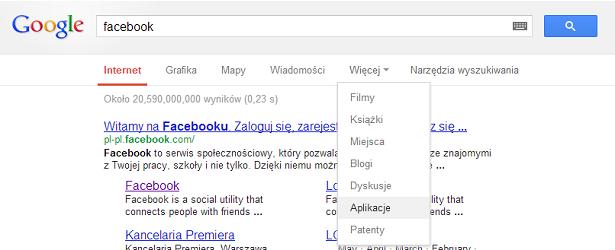 Wyszukiwarka Google teraz pomaga wyszukać aplikacje. Ale zdaje się ignorować Windowsa