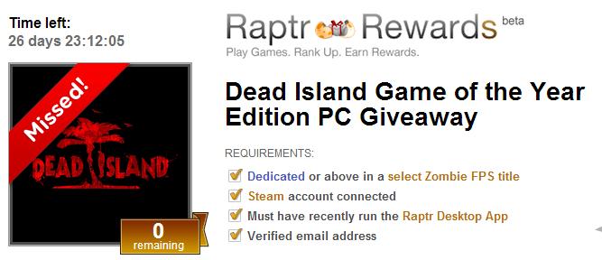 Promocyjne Dead Island z serwisu Raptr – polska gra niedostępna na terytorium Polski
