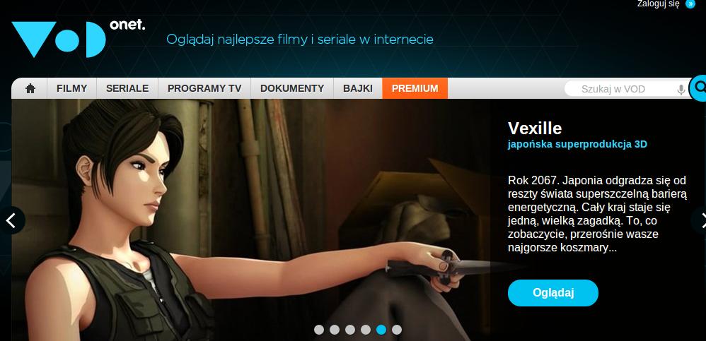 Vod.pl prezentuje ofertę premium. Jest dużo i tanio