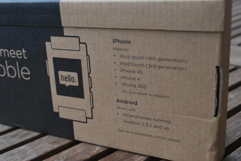 2. Pebble - pudełko info