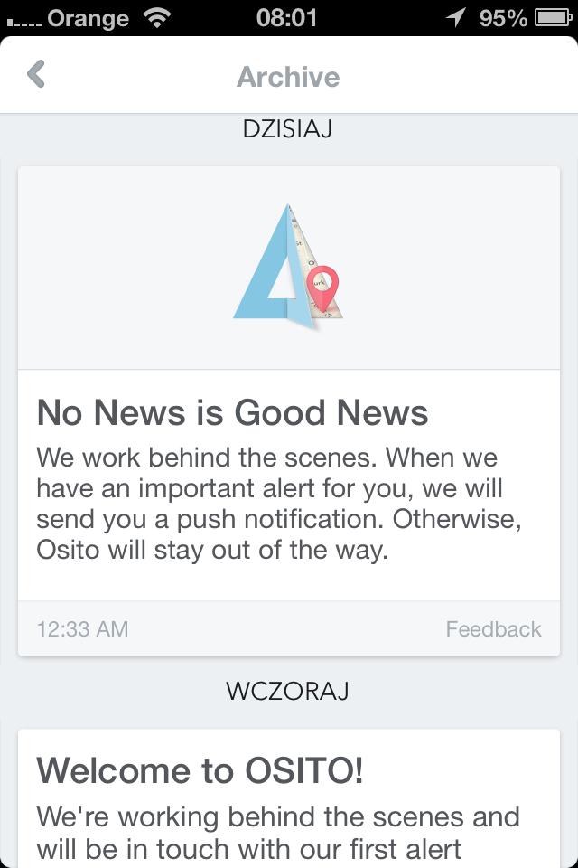 OSITO – klon Google Now na iPhone'a, który nie do końca działa