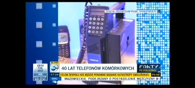 W TVN24 o 40-letniej historii telefonu komórkowego
