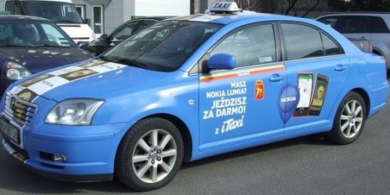 Taksówkarz opowiada mi o promocji iTaxi oraz Nokia Lumia