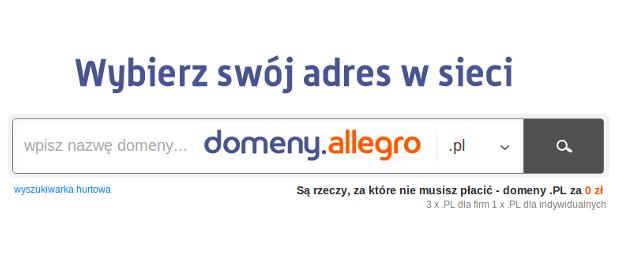 Domeny.Allegro.pl – nowy serwis Grupy Allegro, który namiesza na rynku adresów internetowych