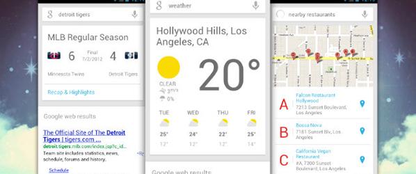 Google Now na stronie głównej wyszukiwarki?