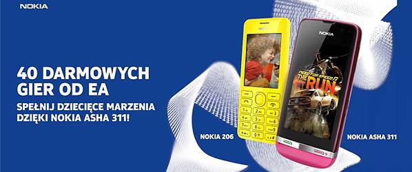 Nokia Asha – darmowe gry od EA!
