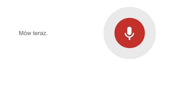 Google mów teraz