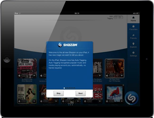 Shazam iPad-3