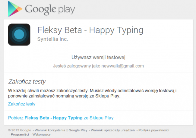 fleksy beta testy