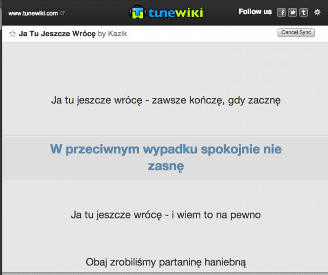 Tune Wiki – Spotify