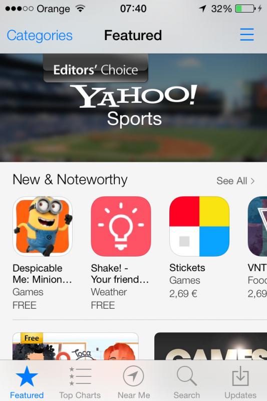 appstore iOS 7-1