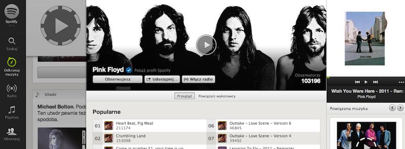 Pink Floyd w Spotify, czyli najwięksi możni rynku muzycznego miękną