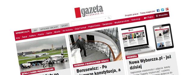 Jest nowa wersja strony Wyborcza.pl – mniej krzykliwa i bardziej nowoczesna