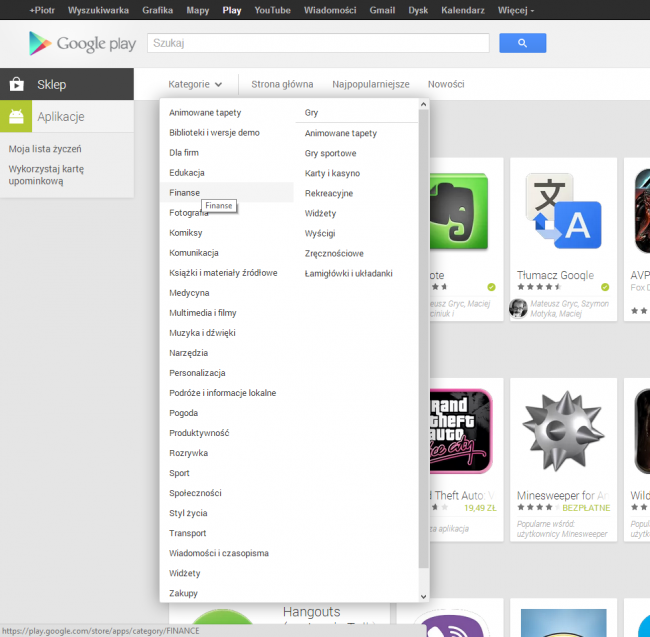 google-play-kategorie
