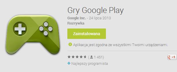 Aplikacja Gry Google Play – na to czekali wszyscy miłośnicy gier na Androida