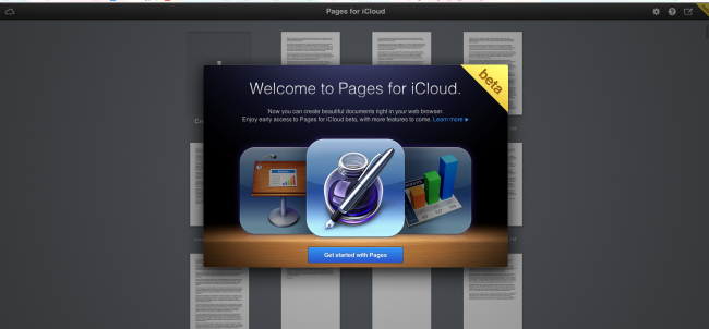 iWork w przeglądarce iCloud 1