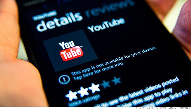 Google'owi nie podoba się aplikacja YouTube na Windows Phone… znowu