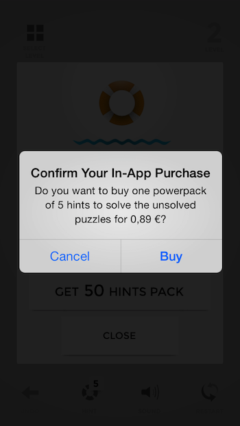Mind Stuck iOS game, in-app2