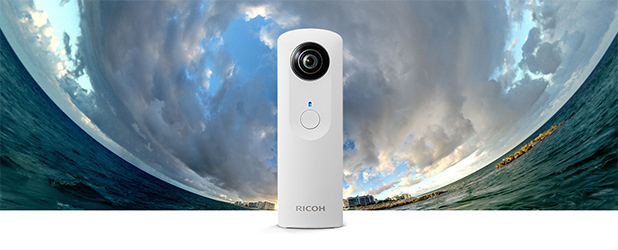 Ricoh Theta to sterowany smartfonem aparat, który wykona panoramę 360 stopni