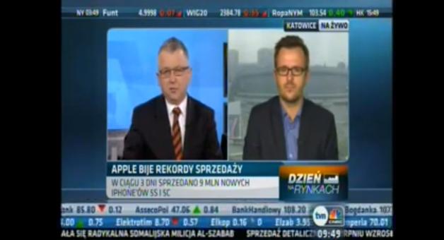 O rynku smartfonów po debiucie nowych iPhone'ów w TVN CNBC
