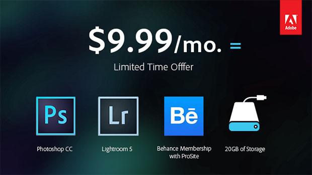 Adobe Creative Cloud ma specjalną ofertę dla fotografów