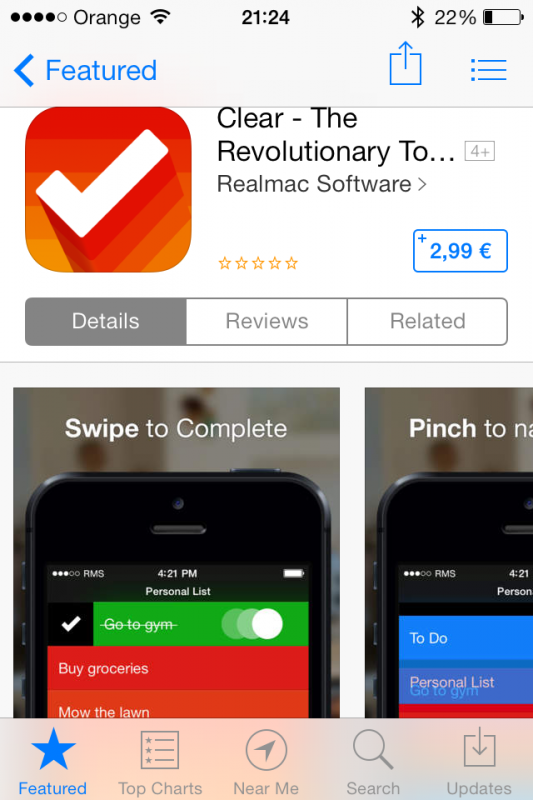clear app store