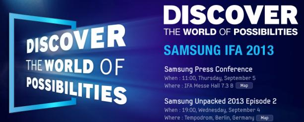IFA 2013: Konferencja Samsunga – live blog Spider's Web