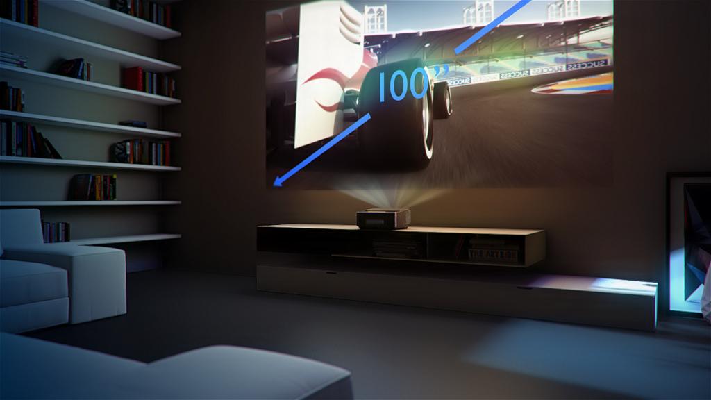 100 cali z rzutnika oddalonego 44 cm od ściany – to nie przyszłość telewizji, ale teraźniejszość projektorów