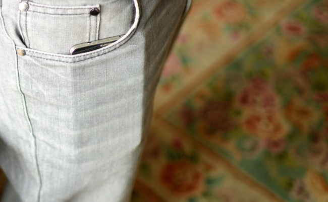 Galaxy Note 3 w kieszeni