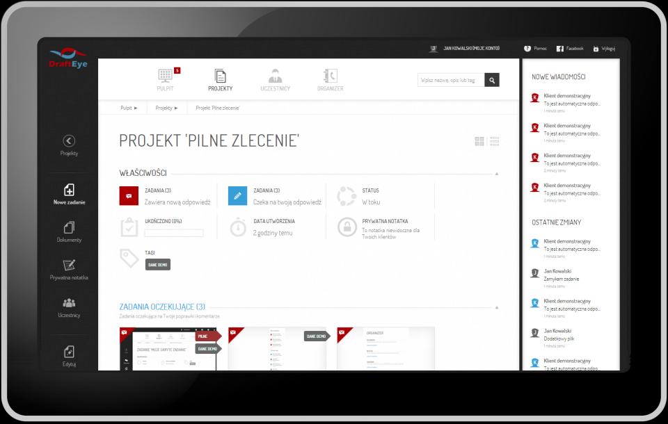 Polska platforma Draft Eye pomaga przy zarządzaniu projektami graficznymi. Wybierają ją freelancerzy, zespoły i agencje