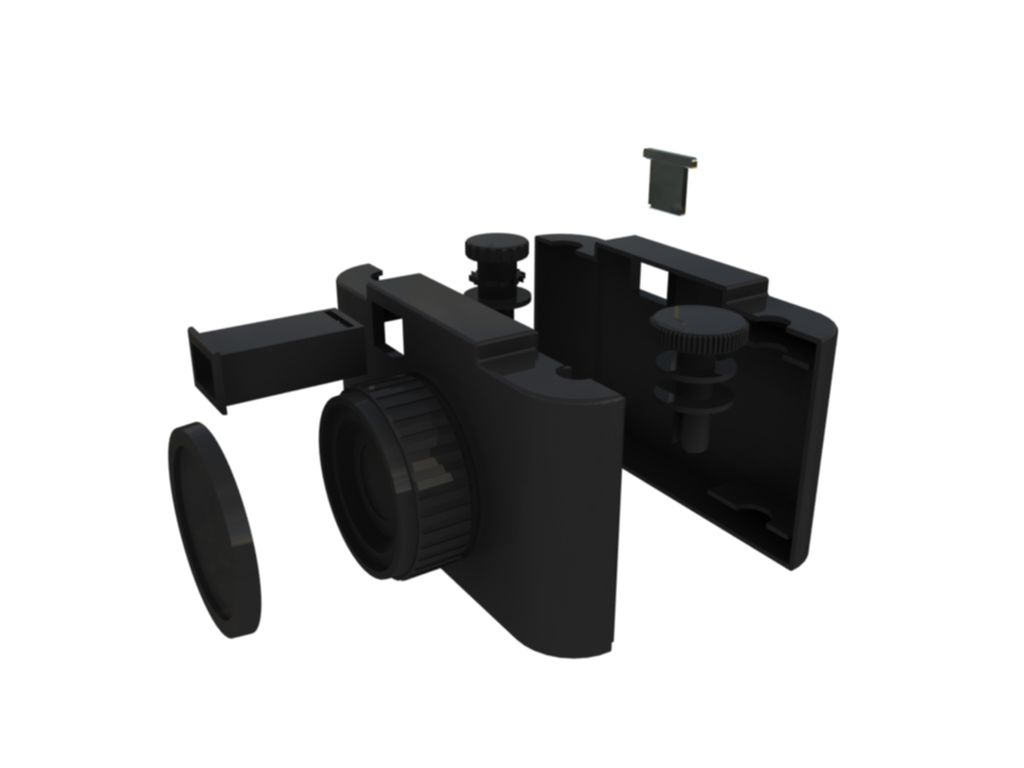 Minimalistyczne połączenie starego z nowym, czyli analogowy aparat wydrukowany w 3D