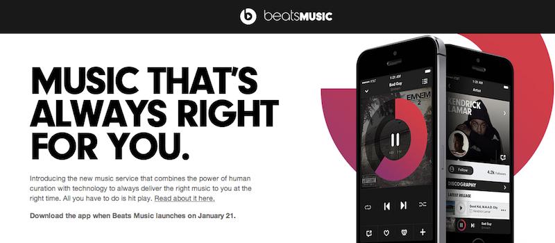 Beats Music, nowy serwis streamingu muzyki, który ma być Spotify killerem – pierwsze wrażenia Spider's Web