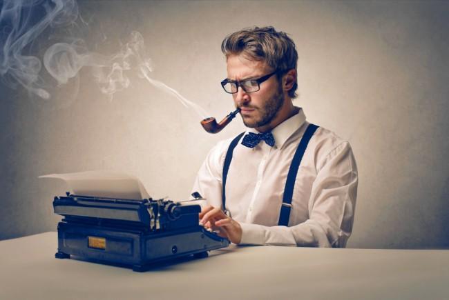 dziennikarz maszyna do pisania