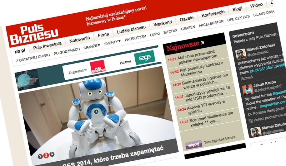 Krótka piłka: Spider's Web w Pulsie Biznesu o 4 trendach CES 2014, które trzeba zapamiętać