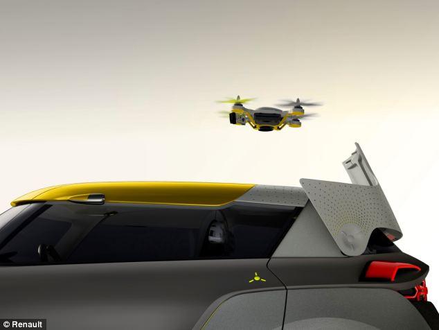 Renault Kwid – samochód, który zamiast wideorejestratora będzie miał drona