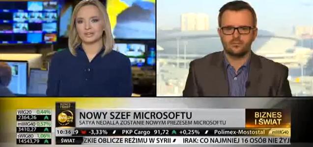 W TVN24 Biznes i Świat na temat przyszłości Microsoftu pod nowymi sterami