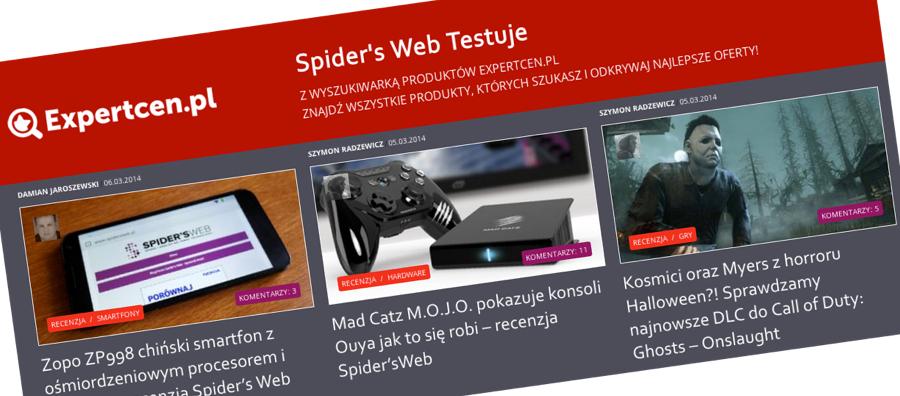 Expertcen.pl – nowa porównywarka produktów na polskim rynku partnerem Spider's Web Testuje